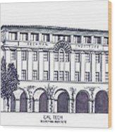 Cal Tech Beckman Wood Print