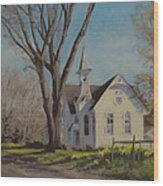 Calapooia Church Wood Print
