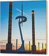 Calatrava Tower - Barcelona Wood Print
