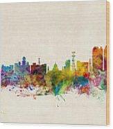 Calcutta India Skyline Wood Print