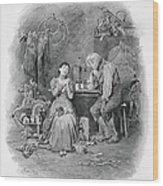 Caleb Plummer And His Blind Daughter Wood Print
