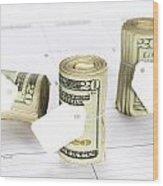 Calendar And Bankrolls Wood Print by Joe Belanger