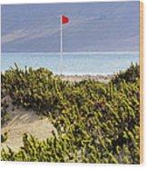 Caleta De Famara Beach Lanzarote Wood Print