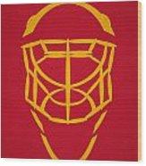 Calgary Flames Goalie Mask Wood Print