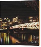 Calgary's Peace Bridge Wood Print