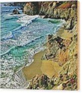 Californa Shore Wood Print by Benjamin Yeager
