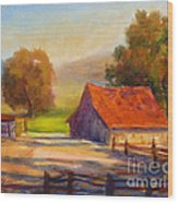 California Barn Wood Print