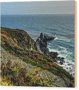 California - Big Sur 005 Wood Print by Lance Vaughn