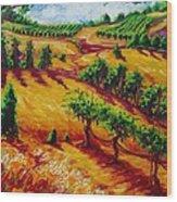 California Chardonnay Wood Print