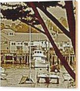 California Coastal Harbor Wood Print