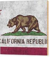 California Flag Wood Print