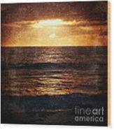 California Grunge Sunset Wood Print