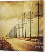 California Highway Wood Print by Pam Vick