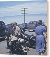California Highway Patrol Harley Davidson Circa 1948 Wood Print