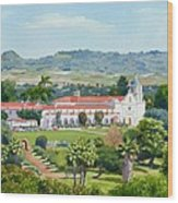 California Mission San Luis Rey Wood Print