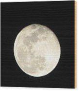 California Moon Wood Print