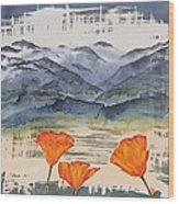 California Poppies Wood Print by Carolyn Doe