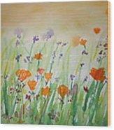 California Poppies Wood Print