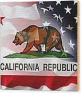 California Republic Within The United States Wood Print