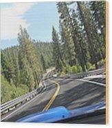 California Road Wood Print
