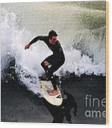 California Surfer Wood Print