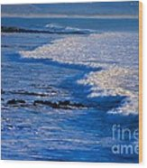 California Pismo Beach Waves Wood Print