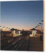 California Train Station Landscape Wood Print