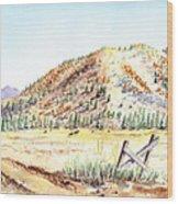Californian Landscape Saint John Ranch Bald Mountain View Shasta County Wood Print