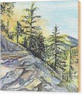 Californias Sierras Wood Print