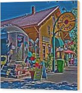 Calistoga Depot Wood Print