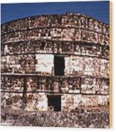Calixtlahuaca - Round Pyramid Wood Print