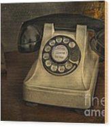 Call Me And Whisper Wood Print