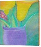 Calla Lilies Supreme Wood Print by Robert Bray