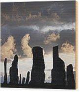 Callanish Standing Stones Wood Print by Tim Gainey