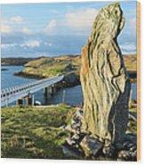 Callanish Viii Standing Stone, Isle Of Wood Print