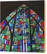 Callaway Gardens Chapel Stained Glass Wood Print