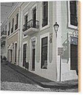 Calle De Luna Y Calle Del Cristo Wood Print