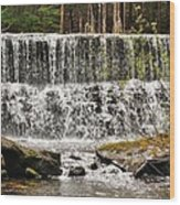 Callens Run Waterfall Wood Print