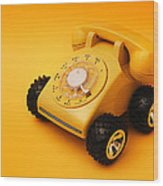 Calling A Cab Wood Print