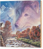 Calling To The Pack Wood Print