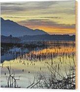 Calm At The Lake Wood Print