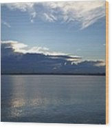 Calm Blue Bay Wood Print