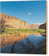 Calm Colorado River Wood Print by Michael J Bauer