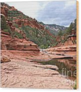 Calm Day At Slide Rock Wood Print