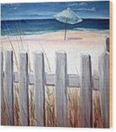 Calm Day At The Seashore Wood Print