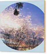 Calm December Sunset Wood Print