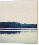 Calm Lake Landscape Wood Print