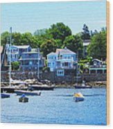 Calm Summer Day At Rockport Harbor Wood Print