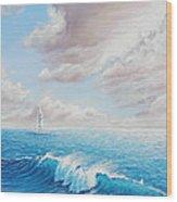 Calming Ocean Wood Print by Joe Mandrick