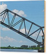Caloosahatchee Train Draw Bridge Wood Print